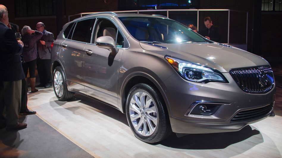 The Buick Envision, built in China, was on display at the North American International Auto Show in Detroit. It will soon go on sale in the U.S. (Jim Watson/AFP/Getty Images)