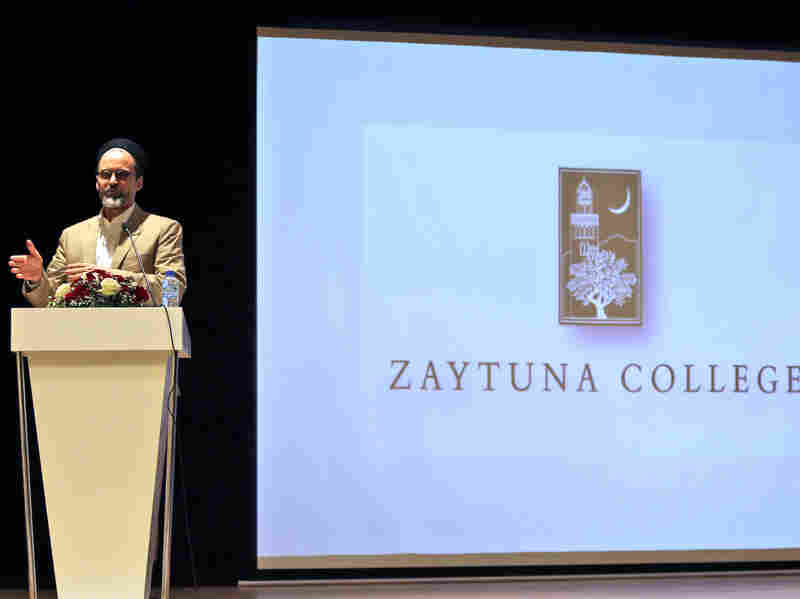 """Sheikh Hamza Yusuf, shown here in July 2015, is the founder of a Muslim liberal arts college in Berkeley, Calif. """"Ideas must counter ideas,"""" he says. """"You can drop all the bombs you want, but if you don't pull up weeds by their roots, they just grow back."""""""