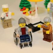 An image taken from a video by Lego fan website Zusammengebaut shows a new minifigure in a wheelchair. The toy will go on sale in June, the company says.