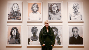 """Nineteen portraits from Rebecca Campbell's ongoing series are on display at the L.A. Louver. She says she portrays female artists """"who are serious, diligent, hard working and good at what they do."""""""