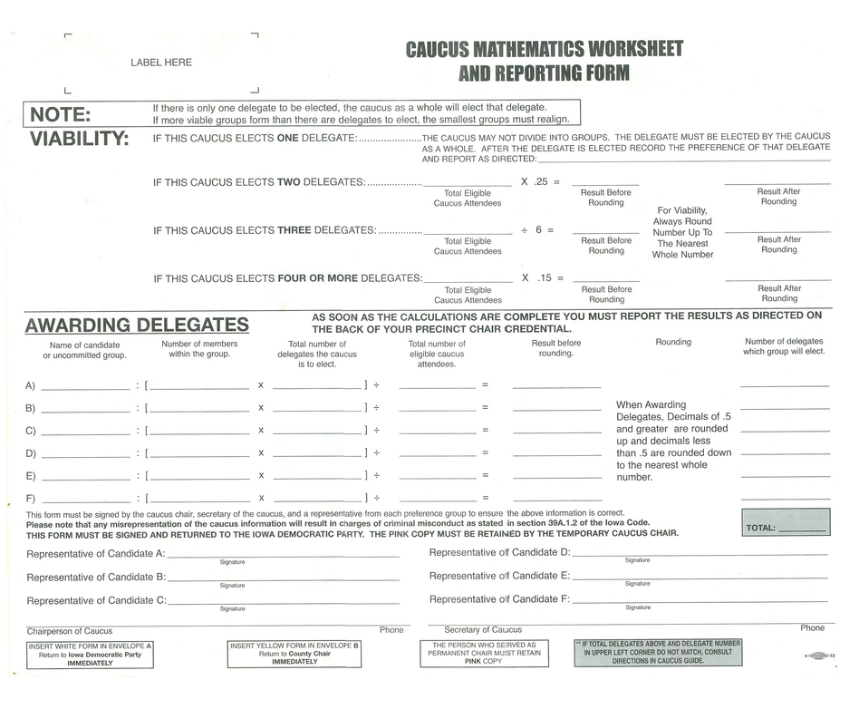 Printable Worksheets political party worksheets : How Exactly Do The Iowa Caucuses Work? | WBUR News