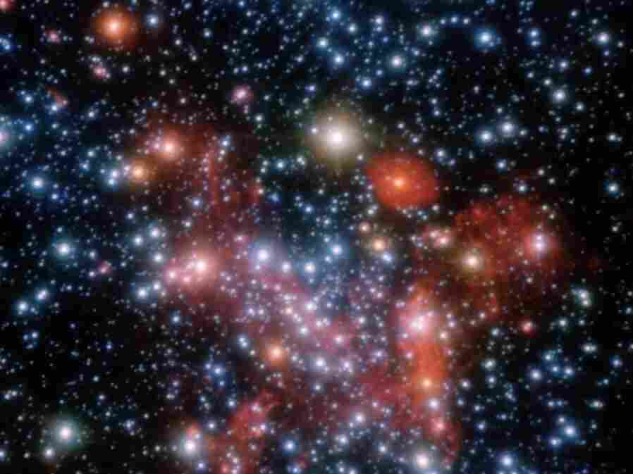 The central parts of our galaxy, the Milky Way, as observed by the NACO instrument on ESO's Very Large Telescope.