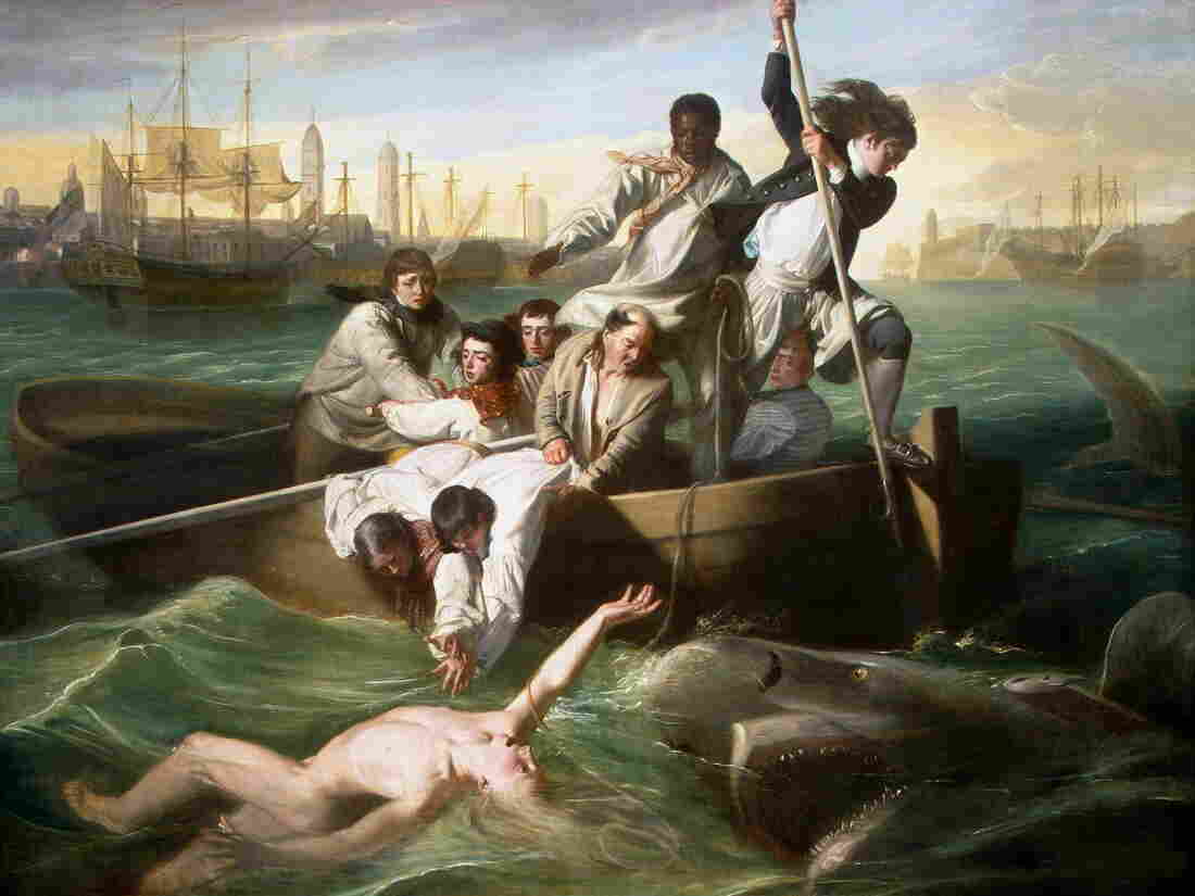John Singleton Copley's Watson and the Shark, a 1778 oil painting. It depicts the rescue of Brook Watson from a shark attack in Havana, Cuba.