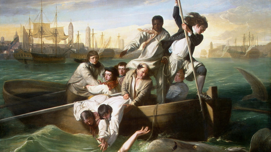 John Singleton Copley's Watson and the Shark, a 1778 oil painting. It depicts the rescue of Brook Watson from a shark attack in Havana, Cuba. (UIG via Getty Images)