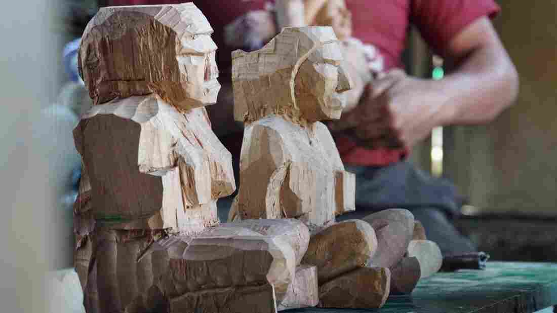 These traditional Mayan figures made by artisans in Guatemala are sold online by Novica.
