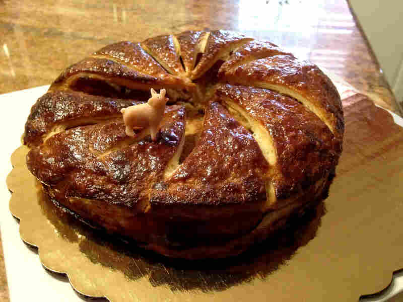 If you prefer your cakes a little less garish, you can get French-style galette des rois around New Orleans, too. Instead of a plastic baby, the bakers at La Boulangerie like to put a pig figurine inside.
