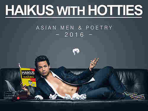 Actor Shannon Kook poses on the cover of the 2016 Haikus with Hotties calendar.