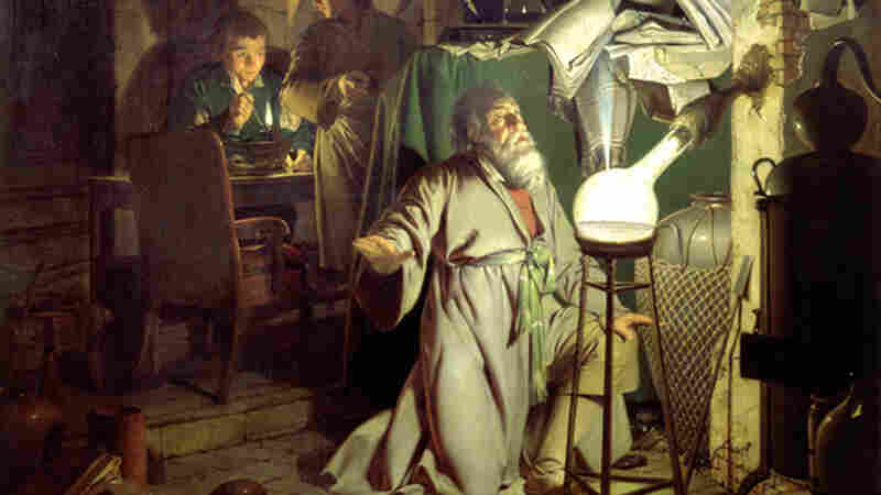 Alchemist Hennig Brand looks focused, if maybe a bit drained, in this 1795 painting by Joseph Wright. The painting depicts Brand's discovery of the chemical element phosphorus.