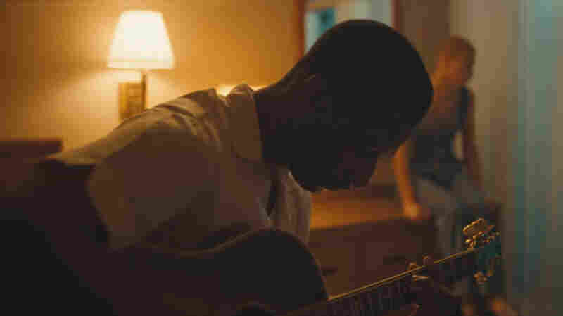 "A still from Leon Bridges' ""River."""