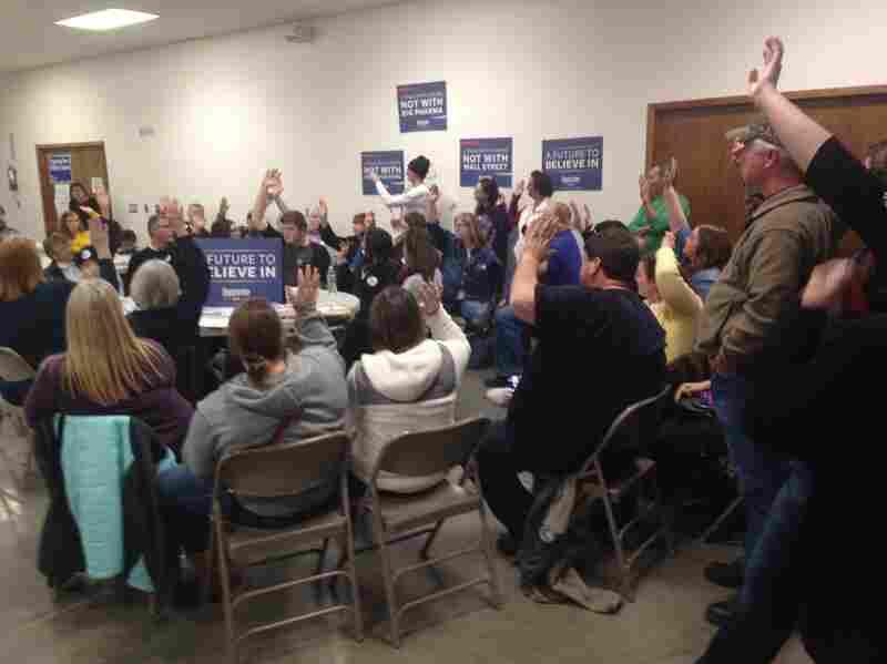 The Iowa Democratic caucus in the city of Earlham, Madison County, Iowa.