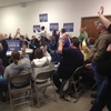 The Iowa Democratic caucus in the city of Earlham, Madison County, Iowa.