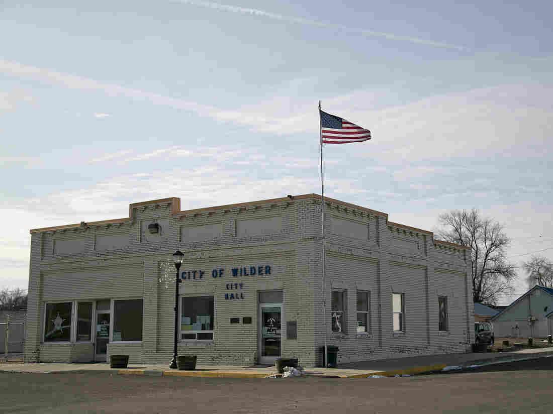 City Hall in Wilder, Idaho.