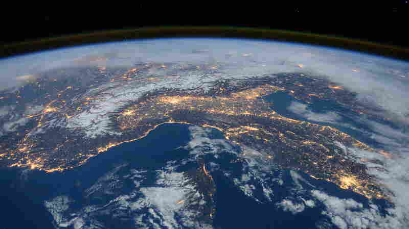 "ESA astronaut Tim Peake posted this Jan. 29 photo on his social media channels, commenting: ""Beautiful night pass over Italy, Alps and Mediterranean."""