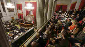 Spectators listen Monday as Tennessee Gov. Bill Haslam delivers his State of the State address in Nashville.