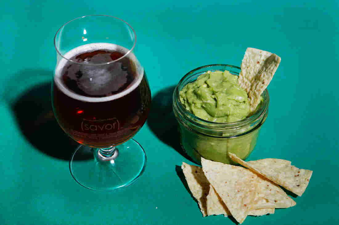 Guacamole with Goose Island Honkers Ale