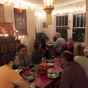 A recent supper club in Josh Haynes' apartment in Birmingham, Ala.