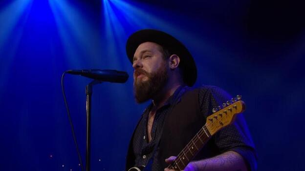 Nathaniel Rateliff, in a still from the group's Austin City Limits performance. (YouTube)