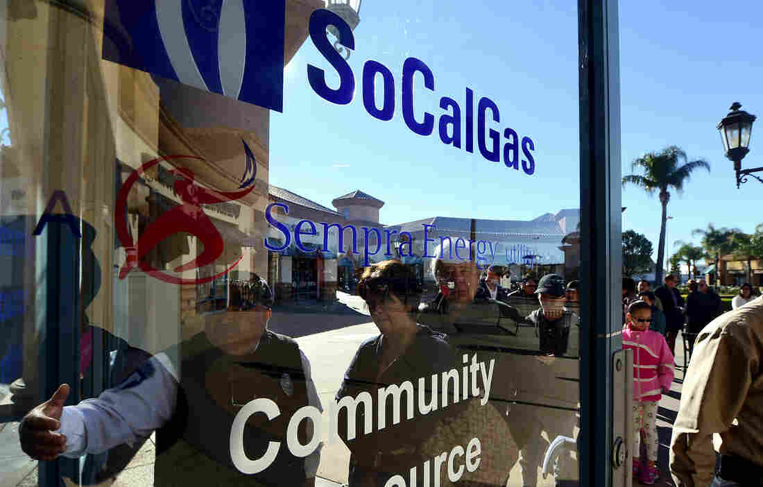 Porter Ranch residents lined up in December to lodge complaints and get information and help with housing at the community resource center that SoCalGas opened in the neighborhood.