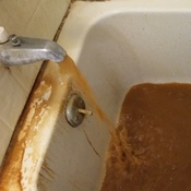 In St. Joseph, La., it's not uncommon for brown water like this to come streaming from faucets.