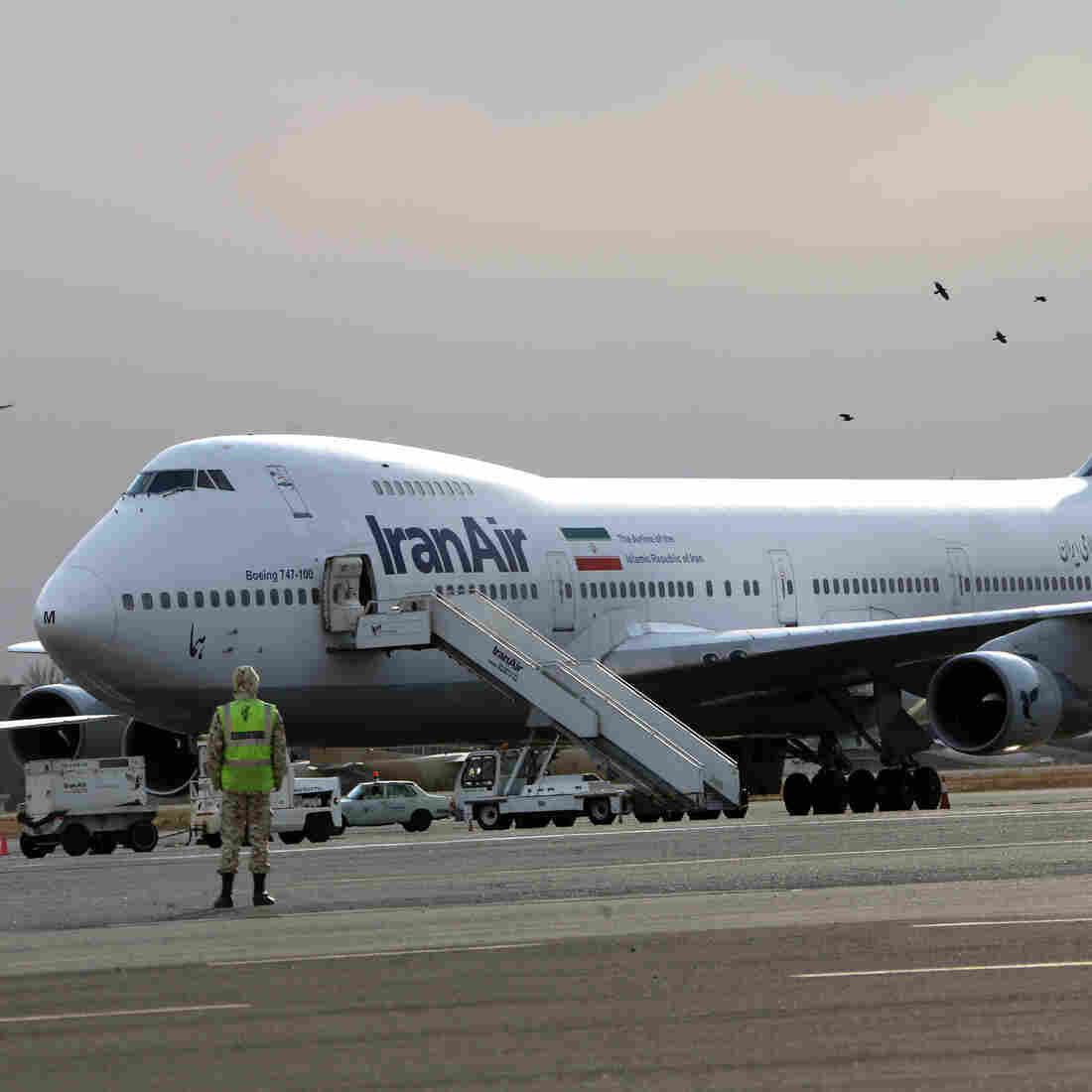 An Iran Air Boeing 747 passenger plane on the tarmac of Mehrabad Airport in Tehran in 2013. Iran bought most of its planes from Boeing before the 1979 Islamic Revolution. The country now has one of the oldest airline fleets in the world. With sanctions lifted, Boeing can once again sell planes to Iran, but the country recently announced a major deal with Airbus.