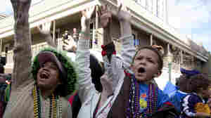 Mardi Gras Spectators in Mobile, Ala., in 2010.