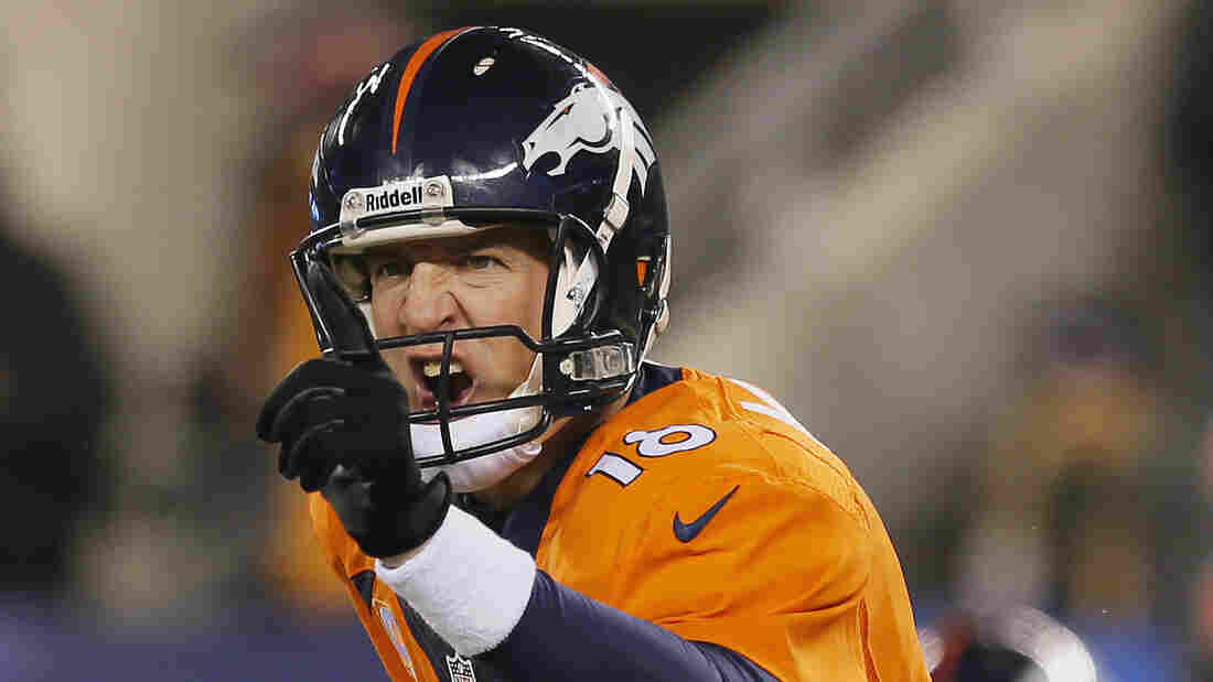 Denver Broncos quarterback Peyton Manning during Super Bowl XLVIII in 2014. Manning will meet the Carolina Panthers in Super Bowl 50 this Sunday.
