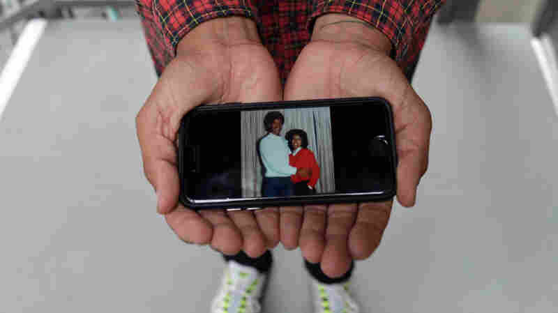 "Walter Thompson-Hernandez displays a photograph of his parents, Kerry Thompson and Ellie Hernandez. Thompson-Hernandez identifies as a ""blaxican"" — another term for Afro-Mexican, the identity soon to be included on the Mexican census for the first time."