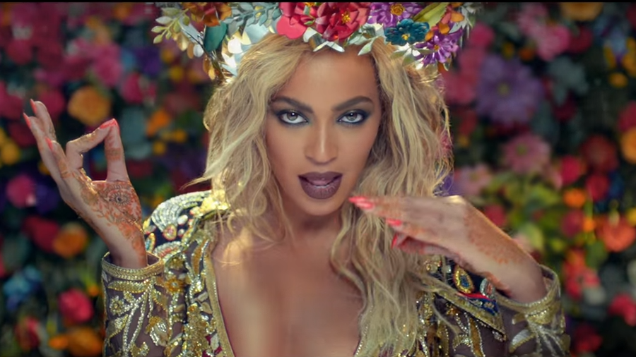 "Beyoncé in the video for Coldplay's ""Hymn for the Weekend."""