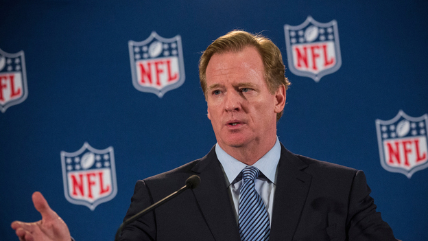 NFL Commissioner Roger Goodell holds a press conference on October 8, 2014 in New York City. (Getty Images)