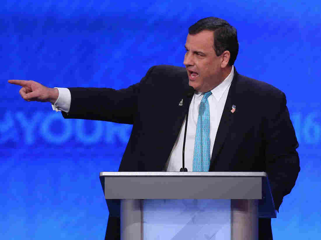 New Jersey Gov. Chris Christie took aim at his opponents in Saturday's Republican presidential debate. But how solid is his own record?
