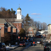 Downtown Peterborough, New Hampshire, where voters will take part in the nation's first primary on Tuesday, Feb. 9, 2016.
