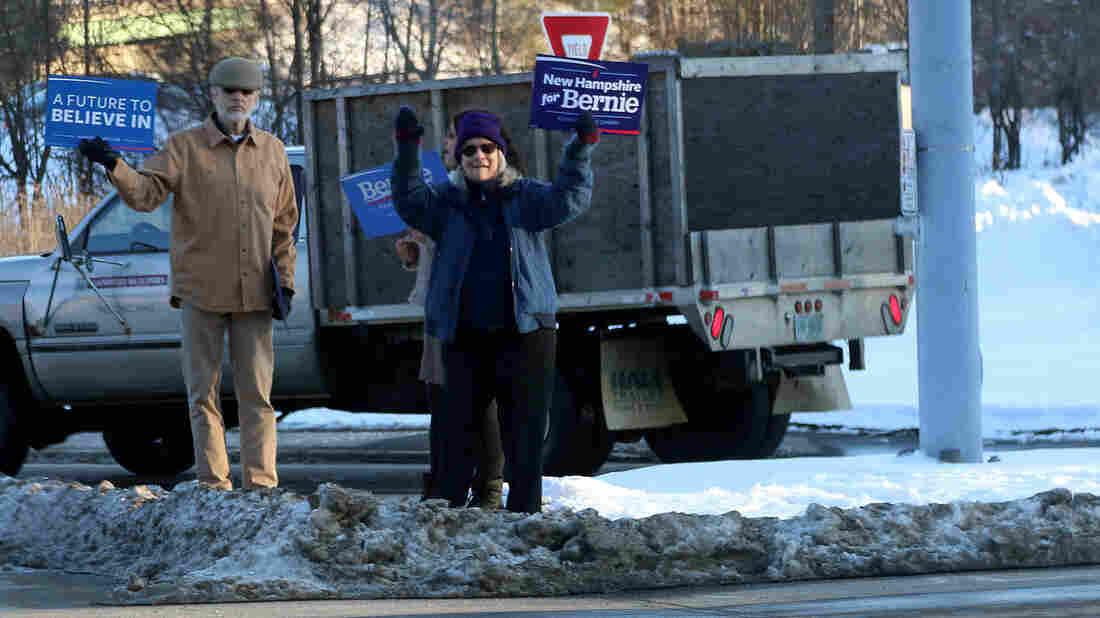 Volunteers for Bernie Sanders in Peterborough, N.H.