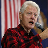 Former President Bill Clinton campaigns for his wife, Hillary Clinton, on Sunday in Milford, NH.
