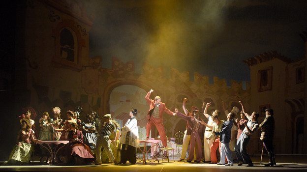 """Kiss Me, Kate is the latest in a series of American musicals to be performed at the Theatre du Chatelet in Paris. """"It is such a glorious theater to perform in,"""" says director Lee Blakeley. (Courtesy of Théâtre du Châtelet)"""