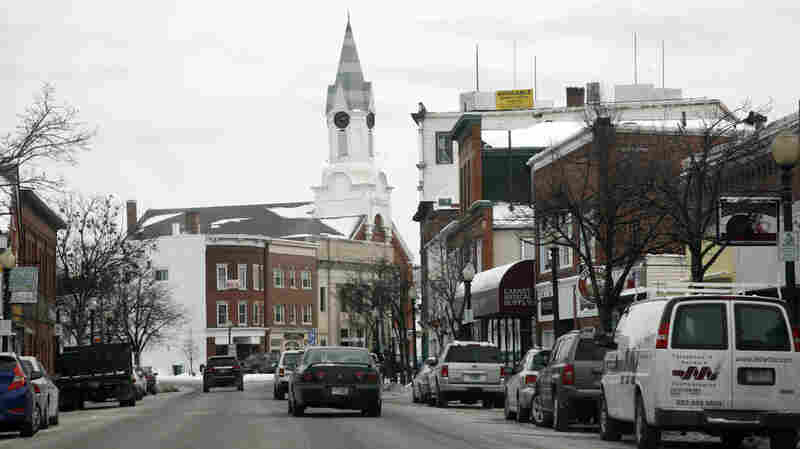 Downtown Rochester, N.H., where voters will take part in the nation's first primary on Tuesday.