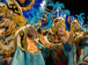 Lourdes Garcia-Navarro performs with the Vila Isabel Samba School during Carnival in Rio de Janeiro.