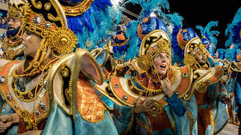 Lourdes Garcia-Navarro performs with the Vila Isabel Samba School during Carnival in Rio de Janeiro.