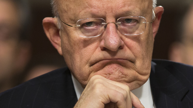 Director of National Intelligence James Clapper testifies Tuesday before a Senate Armed Services Committee hearing on worldwide threats. (AP)