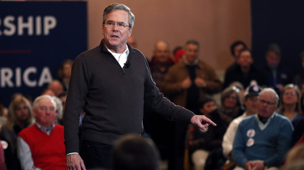 Former Florida Gov. Jeb Bush speaks at a campaign event, Monday in Portsmouth, N.H. (AP)