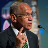 NASA Administrator Charles Bolden speaks at a panel discussion on the search for life beyond Earth at NASA headquarters in 2014.