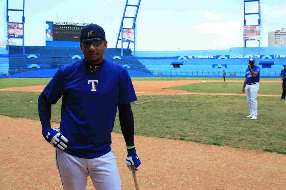 Cuban baseball star Yulieski Gourriel at Latin American Stadium in Havana in the spring of 2015.