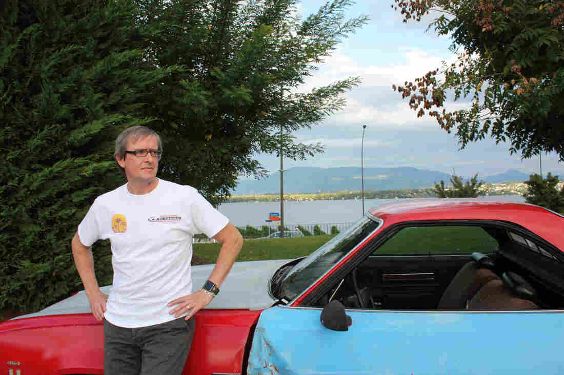 No, he didn't repossess this car from a corrupt official. As a hobby, global health avenger Cees Klumper fixes up classic cars. This one is the actual El Camino used in the TV series My Name Is Earl. Klumper tracked it down and had it shipped to Geneva.