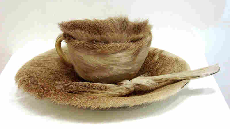 Object (or Luncheon in Fur), by Meret Oppenheim. In 1936, Oppenheim wrapped a teacup, saucer and spoon in fur. In the age of Freud, a gastro-sexual interpretation was inescapable. Even today, the work triggers intense reactions.
