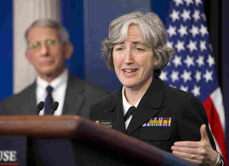 Dr. Anthony Fauci, director of NIH/NIAID, listens as Dr. Anne Schuchat, Principal Deputy Director of the CDC, speaks. President Obama is asking Congress for more than $1.8 billion in emergency funding to help fight Zika. The money would be used to expand mosquito control programs, speed development of a vaccine, develop diagnostic tests and improve support for low-income pregnant women.