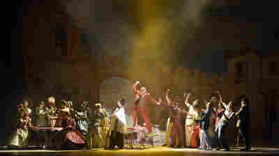 "Kiss Me, Kate is the latest in a series of American musicals to be performed at the Theatre du Chatelet in Paris. ""It is such a glorious theater to perform in,"" says director Lee Blakeley."