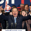 GOP Ohio Gov. John Kasich at his New Hampshire primary night rally.
