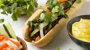 The sandwich that represents Bernie Sanders, according to Food & Wine magazine: the Vietnamese Banh Mi.