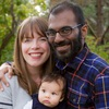 Dr. Lucy Kalanithi and Dr. Paul Kalanithi with their daughter, Elizabeth Acadia.