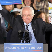 """Sanders told supporters after winning the New Hampshire primary, """"The American people bailed out Wall Street, now it's Wall Street's time to help the middle class."""""""