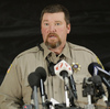 Harney County Sheriff David Ward speaks at a press conference last month.